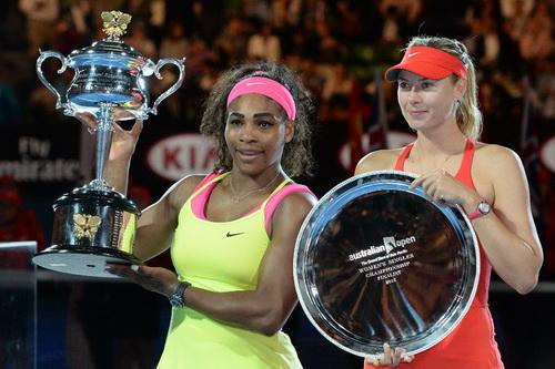 Serena vô địch về tổng tiền thưởng nhưng kiếm tiền ngoài sân đấu vẫn thua xa Sharapova