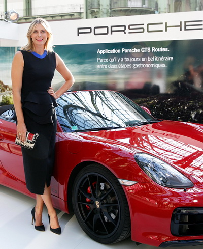 Sharapova là đại sứ thương hiệu cho hãng xe Porsche