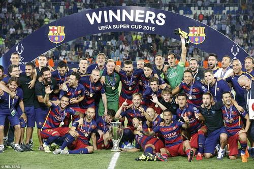 Barcelona giành Siêu cúp châu Âu 2015