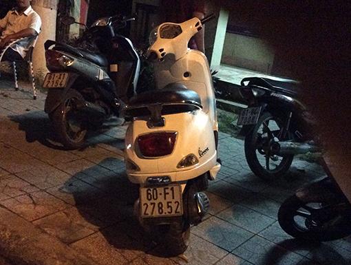 Xe máy mà đối tượng Hứa Thảo Linh dùng làm phương tiện đi trộm điện thoại