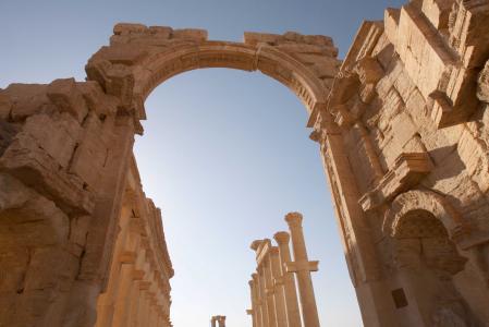IS đã xông vào thành phố cổ Palmyra. Ảnh: Reuters