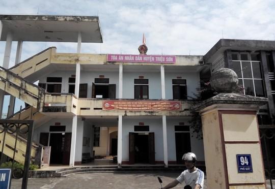 TAND huyện Triệu Sơn, nơi xảy ra vụ việc nhận hối lộ gây xôn xao dư luận - Ảnh: Tuấn Minh