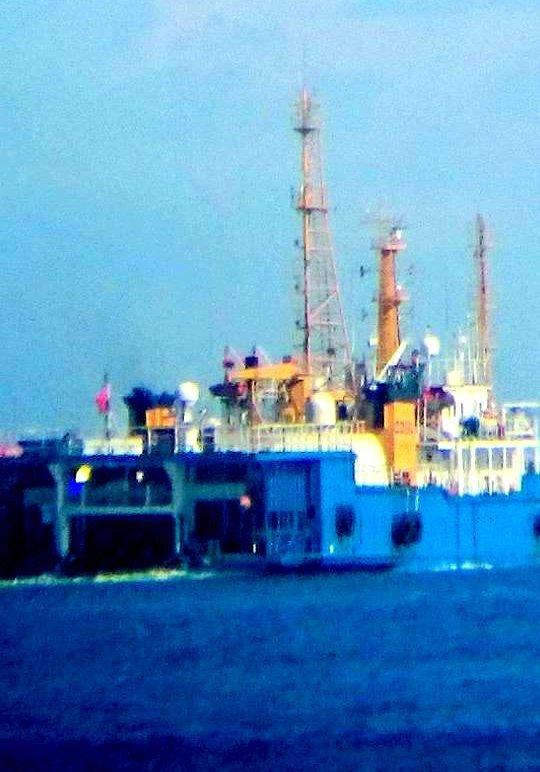 Tàu Tân Hải 517 đang di chuyển trên vùng biển cách đảo Phú Quý (Bình Thuận) 20 hải lý về phía tây nam. Ảnh chụp ngày 6-6 - Ảnh: CTV/báo Tuổi trẻ
