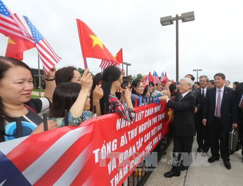 Kiều bào Việt Nam tại Mỹ đón Tổng Bí thư