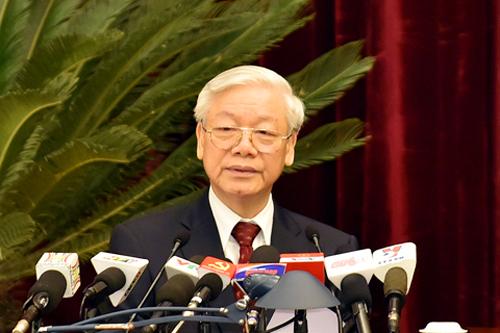 Tổng Bí thư Nguyễn Phú Trọng phát biểu khai mạc Hội nghị Trung ương 11