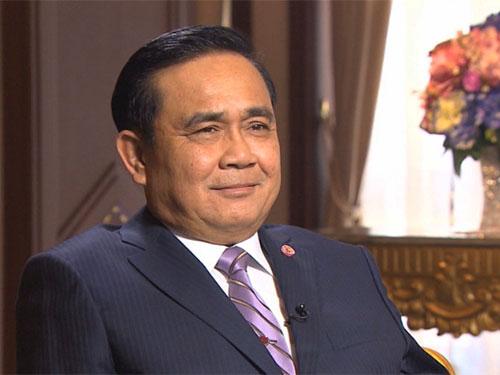 Thủ tướng Thái Lan Prayuth Chan-ocha trả lời phỏng vấn đài CNN. Ảnh: CNN
