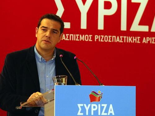 Đảng Syriza của ông Alexis Tsipras nhiều khả năng giành chiến thắng trong cuộc tổng tuyển cử ngày 25-1Ảnh: GREEK REPORTER