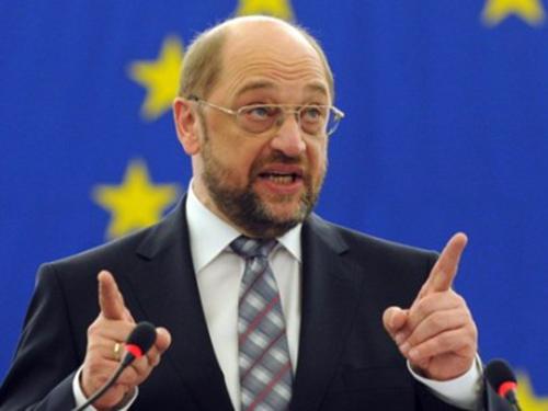 Chủ tịch Nghị viện châu Âu Martin Schulz hy vọng Hy Lạp tiếp tục là thành viên eurozone Ảnh: THE NATIONAL HERALD