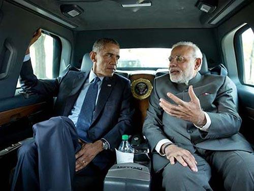 Thủ tướng Ấn Độ Narendra Modi (phải) và Tổng thống Mỹ Barack ObamaẢnh: Nhà Trắng