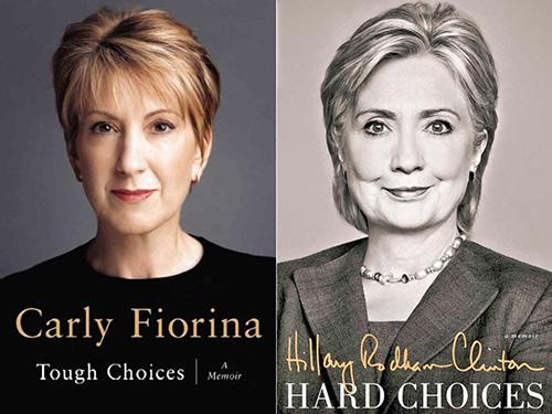 Bà Carly Fiorina (trái) thường xuyên chỉ trích cựu Ngoại trưởng Hillary ClintonẢnh: New York Daily News