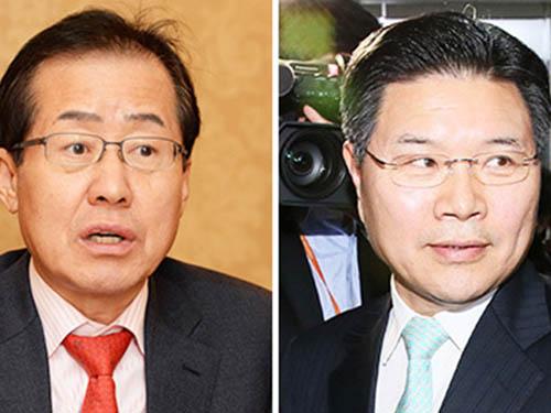 Hai ông Hong Joon-pyo (trái) và Hong Moon-jong Ảnh: KOREA TIMES