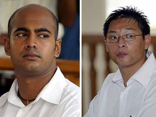 Andrew Chan cùng Myuran Sukumaran (trái) là 2 người Úc bị kết tội buôn bán ma túy  Ảnh: REUTERS