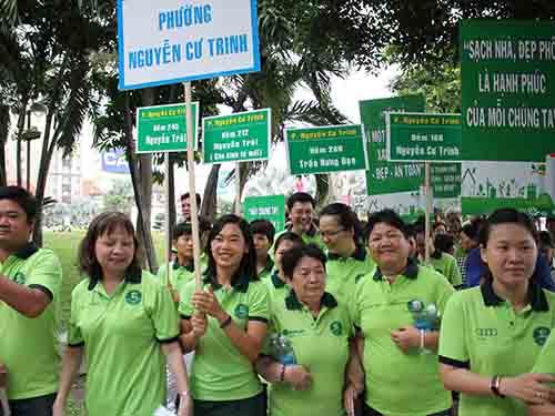 Đại diện phường Nguyễn Cư Trinh tại buổi lễ