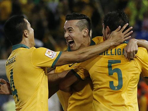Các cầu thủ Úc tự tin sẽ lần đầu vô địch châu Á ngay trên sân nhà  Ảnh: REUTERS