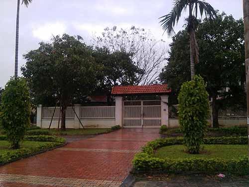 Nhà ông Nguyễn Bá Thanh ở đường Cách Mạng Tháng Tám, TP Đà Nẵng ngày 7-1 vẫn vắng lặng