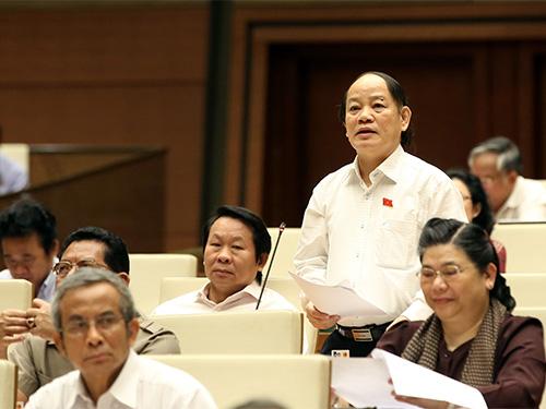 ĐB Huỳnh Nghĩa đề nghị chế tài người bị kiện trong vụ án hành chính nếu cố tình gây khó dễ khiến vụ án kéo dàiẢnh: THẮNG LONG