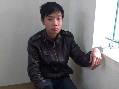 Cù Huy Hưng sau khi bị bắt giữ tại cơ quan công an