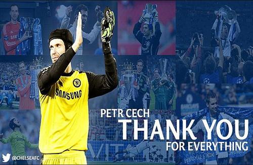 Trang chủ Chelsea đăng lời cảm ơn đóng góp của Cech với The Blues 11 năm qua