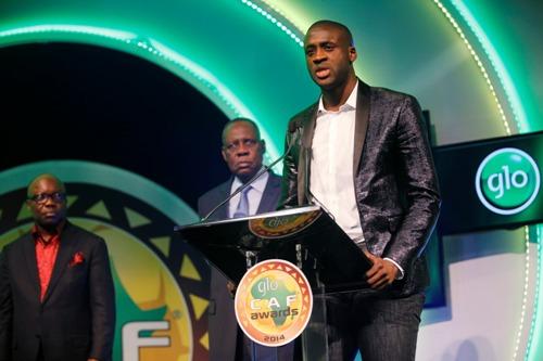Toure tại lễ trao giải Cầu thủ xuất sắc nhất châu Phi 2014 tại Lagos, Nigeria