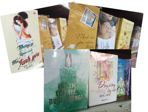 Tràn lan sách ngôn tình trên các quầy sách