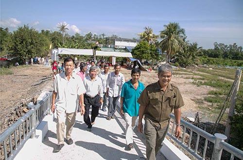 Cầu Một Thước, xã Hậu Mỹ Trinh, huyện Cái Bè, tỉnh Tiền Giang đi vào hoạt động ngày 9-1