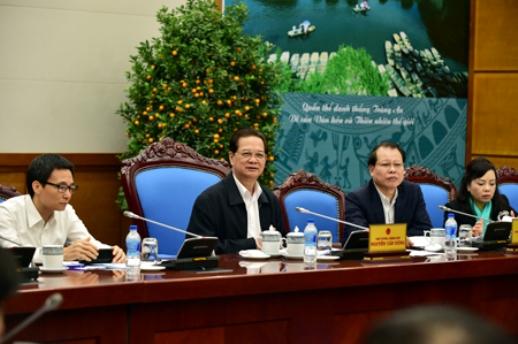 Thủ tướng Nguyễn Tấn Dũng phát biểu kết luận cuộc họp