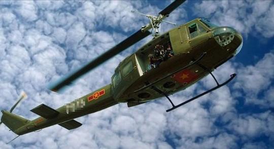 Một chiếc trực thăng UH 1 của Không quân Việt Nam cùng loại với chiếc máy bay bị rơi