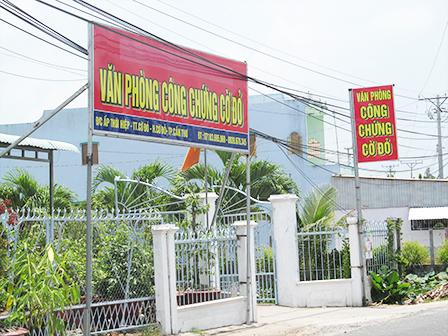 Văn phòng Công chứng Cờ Đỏ do ông Tùng làm trưởng phòng, đã xảy ra nhiều sai phạm trong quá trình hoạt động
