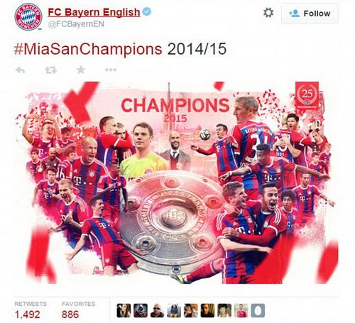 Bayern mừng chức vô địch Bundesliga sớm 4 vòng