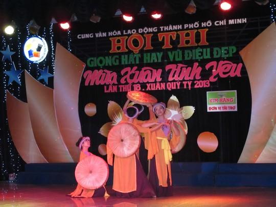 Một chương trình văn nghệ được tổ chức tại Cung Văn hóa Lao động