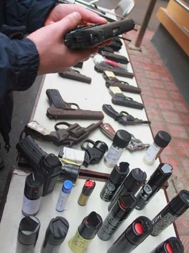 Kho vũ khí nóng Công an TP Hà Nội thu giữ của các đối tượng hoạt động kiểu xã hội đen