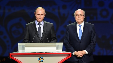 Tổng thống Nga Putin và Chủ tịch FIFA Sep Blatter