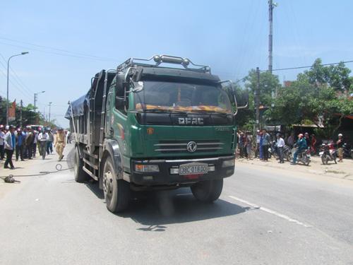 Chiếc xe tải đã cán chết nữ giáo viên tiểu học