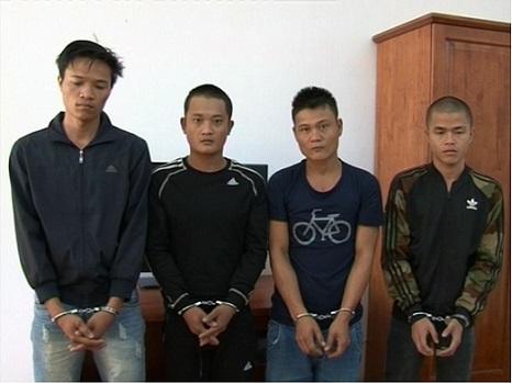 Các đối tượng bao che, giúp đỡ cho đối tượng Gióng đã bị bắt giữ - Ảnh cơ quan công an cung cấp