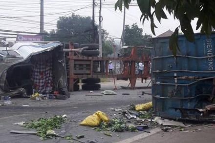 Hiện trường vụ tai nạn khiến 4 người thương vong - Ảnh: Facebook