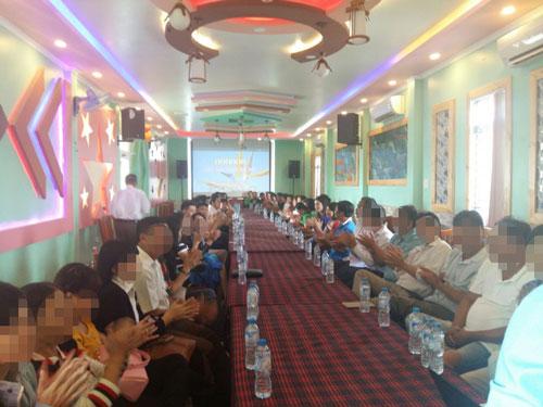 Nhóm người chơi tiền gửi đa cấp tổ chức họp tại tỉnh Sóc Trăng