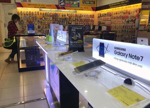 Samsung sẽ thu hồi Galaxy Note 7 tại thị trường Việt Nam Ảnh: Hoàng Triều