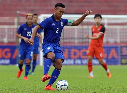 Tiền đạo Chenrop Samphaodi của U21 Thái Lan đang chơi ở Thai League, ghi bàn liên tục Ảnh: QUANG LIÊM