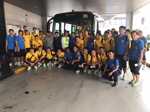 Đội tuyển Việt Nam tại Indonesia Ảnh: NHẬT ĐOÀN
