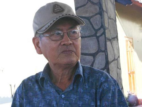 Nhà văn Lê Văn Thảo. (Ảnh do gia đình nhà văn cung cấp)