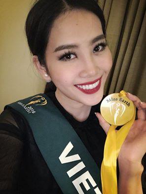 Nam Em khoe huy chương vàng phần thi Hoa hậu ảnh