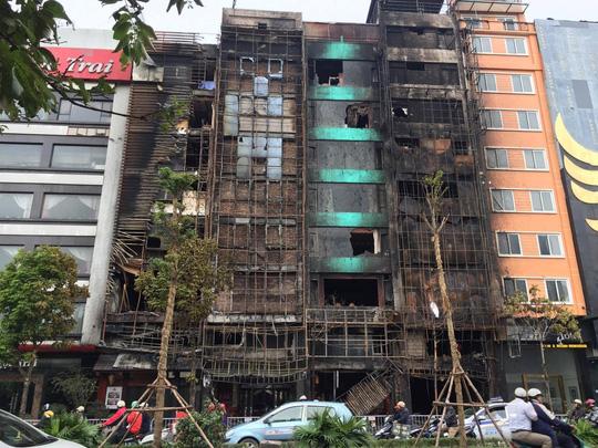 Hiện trường vụ cháy - Ảnh: Nguyễn Hưởng