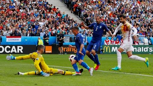 Chiellini (3) vắng mặt sẽ là mất mát cho Ý ở trận tái đấu rạng sáng 7-10 Ảnh: REUTERS