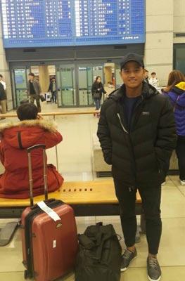 Đức Lương nỗ lực để sớm hòa nhập tại Hàn Quốc Ảnh: Minh Ngọc