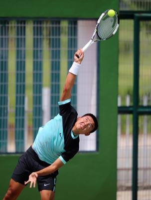 Hoàng Nam ngày càng tự tin khi thi đấu trên sân nhà ở các giải Futures