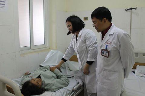 Bệnh nhân H.T.S. tỉnh táo sau ca can thiệp nội soi gắp dị vật