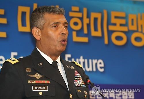 Tư lệnh liên quân Mỹ - Hàn (USFK), tướng Vincent K. Brooks. Ảnh: YONHAP