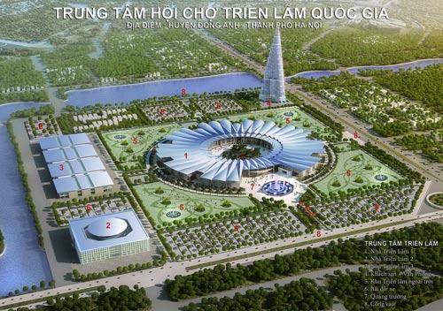 Thiết kế Trung tâm Hội chợ Triển lãm quốc gia mới tại huyện Đông Anh, Hà Nội
