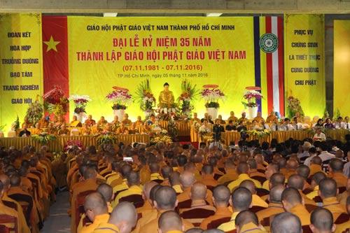 Lễ kỷ niệm 35 năm thành lập Giáo hội Phật giáo Việt Nam