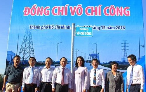 Lãnh đạo TP HCM tham dự buổi lễ đặt tên đường Võ Chí Công